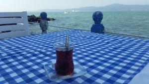 Turkish tea-sea side-cafe-Mudanya-Bursa