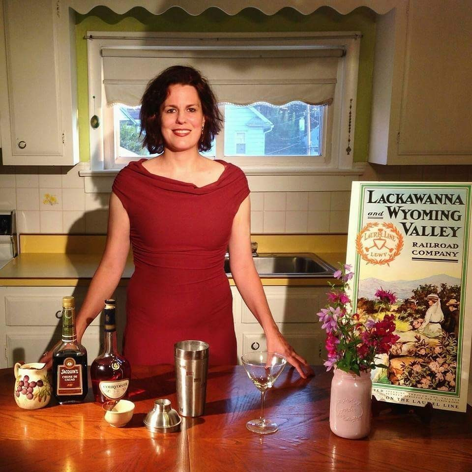 Brandy Alexander-Ingrediants-kitchen-poster of Lackawanna Railroad