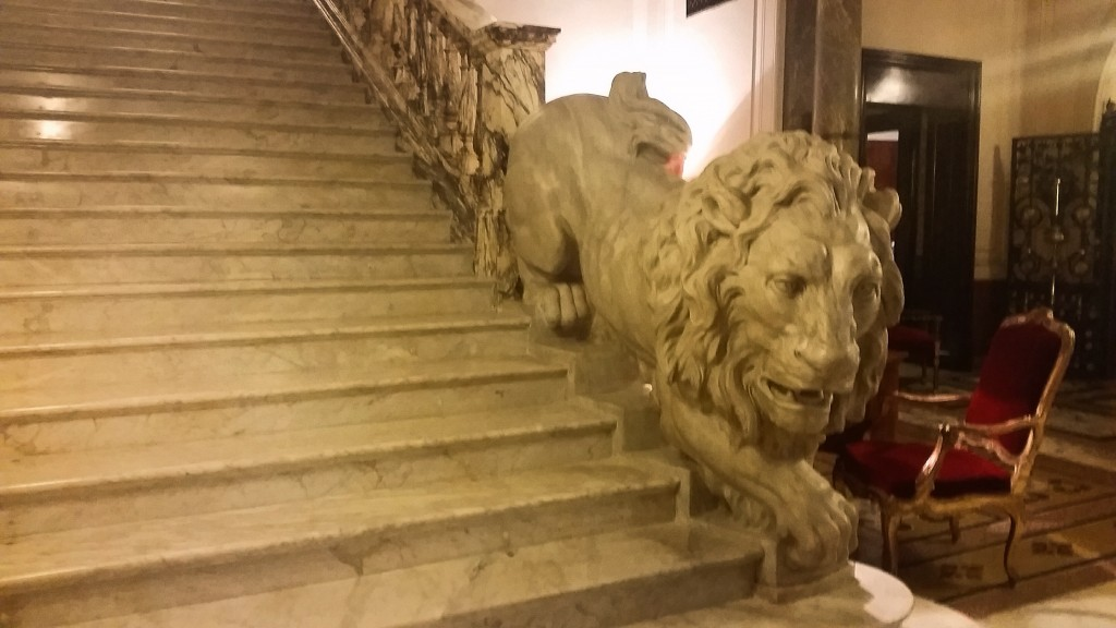 Marble-Lion-Staircase-Grand Plaza Hotel-Rome
