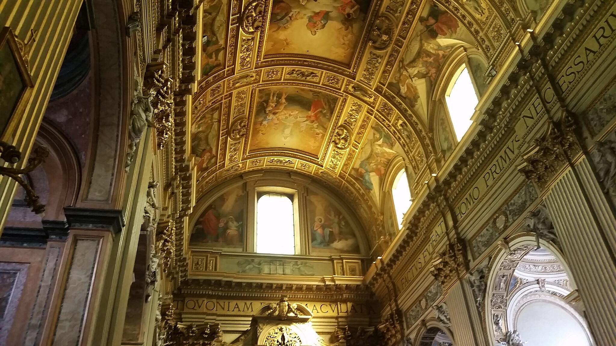 Ceiling-Sant' Andrea della Valle-Church-setting of Tosca-