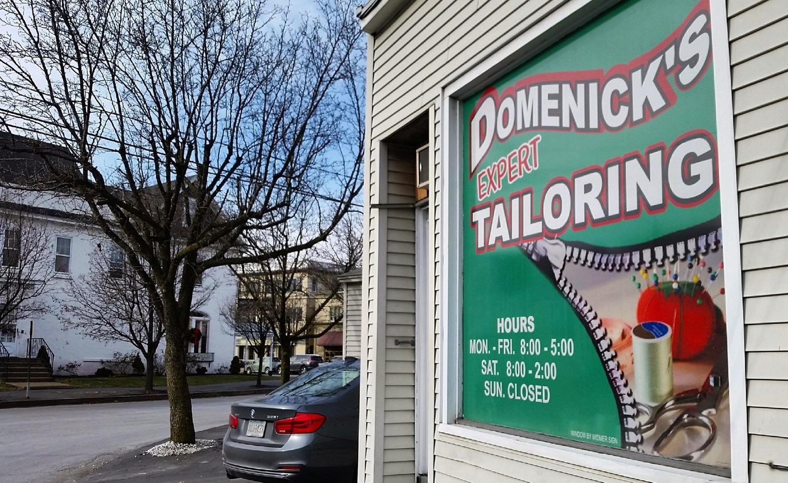 Tailor Shop-Outside-Sign-Winter-Scranton