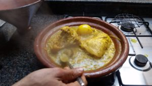 Cooking-Chicken-Tagine