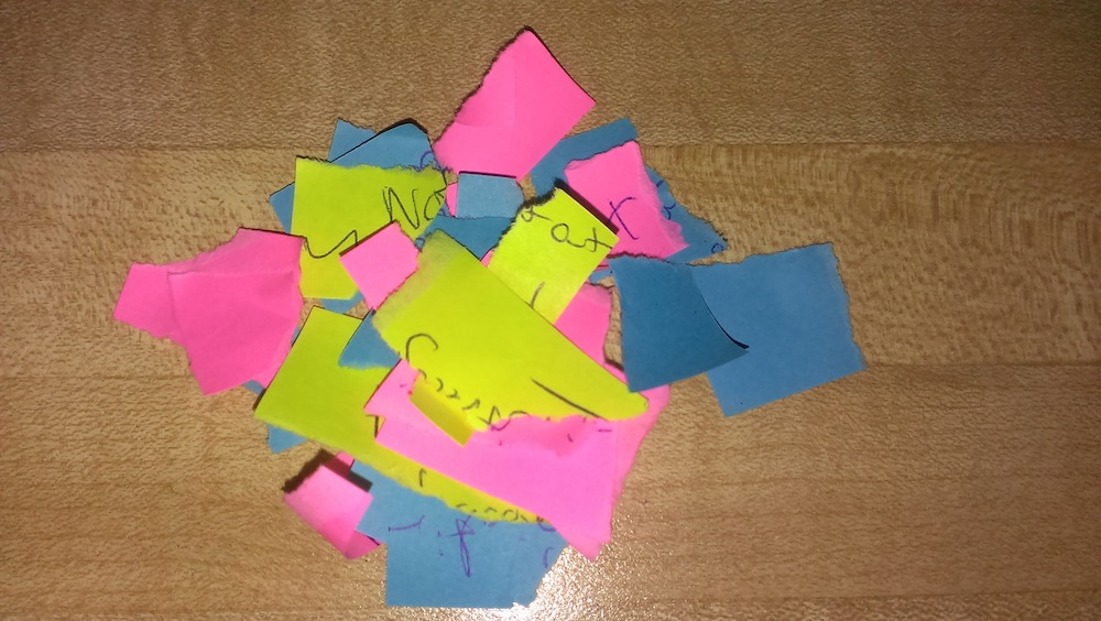 2014.11.08 ripped post-it notes